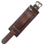 Brown Leather Extra Wide Watch Band: USA Made