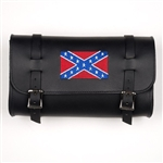 Leather Motorcycle Tool Bags: Rebel Flag