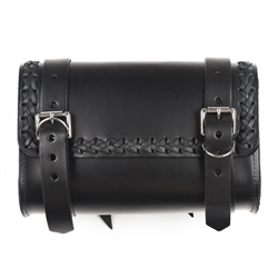 Braided Leather Motorcycle Tool Bag: American Made