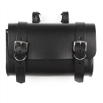 Black Leather Motorcycle Tool Bags: American Made