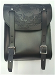 American Black Leather Motorcycle Sissy Bar Tool Bag