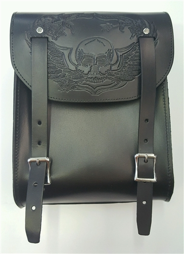 American Black Leather Motorcycle Sissy Bar Tool Bag Made Genuine View Larger Photo Email