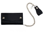 Leather Chain Wallets: Biker Style CheckBook