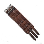 Brown Wide Watch Bands: Three Straps, USA Made Cowhide