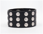 Studded Leather Wrist Band: USA Made
