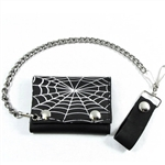 Spider Web USA Leather Chain Wallet