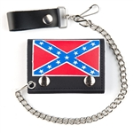 Confederate Leather Chain Wallet: Tri Fold