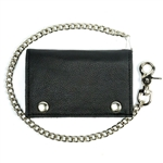 American Made Leather Chain Wallets: Larger