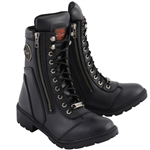 Milwaukee Leather Ladies Black Motorcycle Boots mbl9301