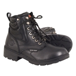 Ladies Milwaukee Leather Motorcycle Boots: Waterproof