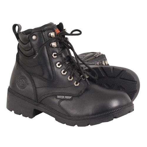 Ladies Milwaukee Leather Motorcycle Boots - Waterproof Lace-Up 715b2a1ee