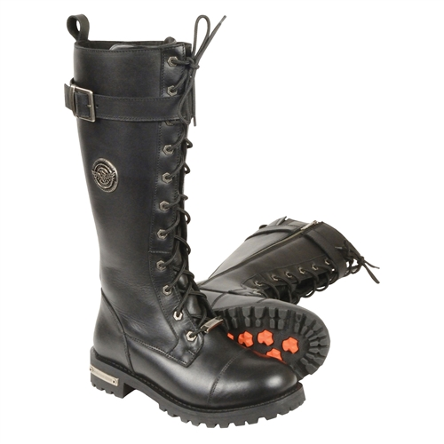 976f482431 Milwaukee Leather Ladies Tall Lace-Up Motorcycle Boots