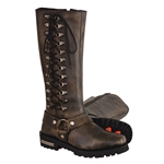 Milwaukee Leather Brown Ladies Motorcycle Boots