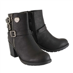Milwaukee Leather Motorcycle Boots: Ladies Heel