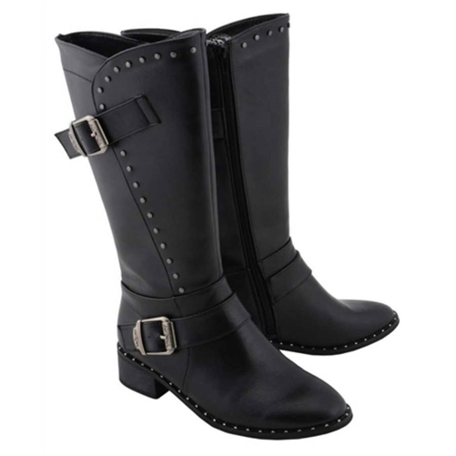 5f9166bf53e Milwaukee Studded Motorcycle Boots
