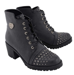Milwaukee Motorcycle Boots: Ladies Rocker Studded