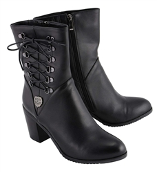 Milwaukee Leather Motorcycle Boots: Ladies Tall Studded