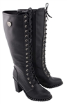 Milwaukee Biker Boots: Ladies Tall Lace-Up