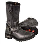 Milwaukee Leather Distressed Grey Motorcycle Boots
