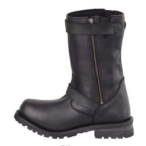 WOMEN/'S Carolina Engineer oil resistant Black Leather Motorcycle Boot Sz 8.5