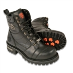 Milwaukee Leather Men's Motorcycle Boots: Lace-Up