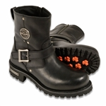 Milwaukee Leather Motorcycle Boots: Short Engineer