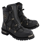 Milwaukee Leather Men's Motorcycle Boots: Double Zipper MBM9075