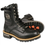 Milwaukee Leather Men's Motorcycle Boots: Logger MBM9095