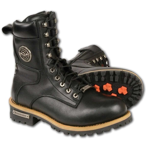 Milwaukee Motorcycle Riding Boots Lace Up Logger