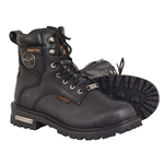 Milwaukee Leather Waterproof Motorcycle Boots: Steel Toe