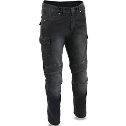 Black Denim Armored Motorcycle Pants