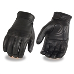 Mens Texting Motorcycle Leather Gloves