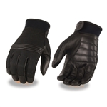 Leather & Mesh Motorcycle Gloves