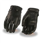 Ladies Leather Motorcycle Gloves: Lightly Lined