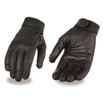 Lightweight Ladies Leather Motorcycle Gloves