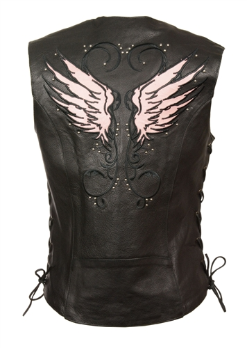 Womens Leather Motorcycle Vest