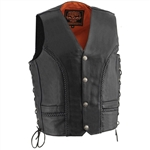 Men's Milwaukee Leather Vest: Buffalo Nickel Snaps