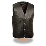 Milwaukee Leather Motorcycle Vests: Buffalo Nickel Snaps