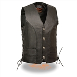 Milwaukee Leather Motorcycle Vests: Buffalo Snaps