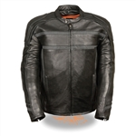 Premium Leather Men's Motorcycle Jacket: Kidney Belt