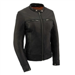 Ladies Leather Scooter Jackets - Lightweight
