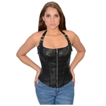 Milwaukee Black Leather Halter Top