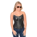 Milwaukee Leather Corset Top Bustier: Studded