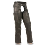 Ladies Soft Leather Motorcycle Chaps