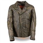 Milwaukee Brown Leather Motorcycle Jackets: Beltless Biker