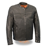 Lightweight Leather Men's Scooter Jacket: