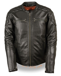Scooter Milwaukee Concealed Carry Leather Motorcycle Jacket