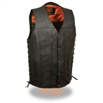 Straight Bottom Milwaukee Leather Motorcycle Vests