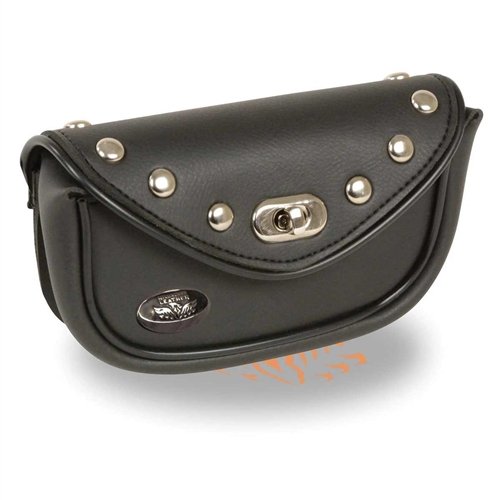 Small Studded Motorcycle Windshield Bag