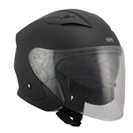Open Face Motorcycle Helmets Matte Black